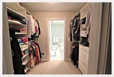Bathroom Plans With Walk In Closet | First, We Go Through The Closet