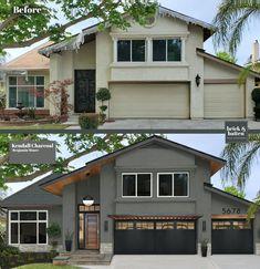 Stucco Exterior, House Paint Exterior, Exterior Paint Colors, Exterior House Colors, Exterior Design, Stucco Paint, Stucco Colors, Garage Exterior, Exterior Homes