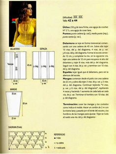 Juvenil suéter amarillo tejido al crochet .   Se teje en forma transversal y su elaboración es bastante sencilla. Lee las instrucciones de...
