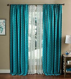 Lush Decor Polka Dot Blackout Window Curtains | Herberger's
