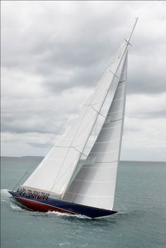 Classic sailing yacht Endeavour refitted by Yachitng Developments - during sea trials  The original badass AC boat. #Untouchable #Iconic