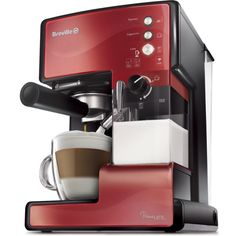 Oster Prima Espresso and Latte Maker (Copper) Latte Maker, Cappuccino Maker, Espresso Maker, Barista, Breville Espresso, Cooktops, Kitchen Tools, Kitchen Appliances, Machine Expresso