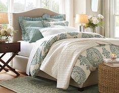 Romantic layered bedroom