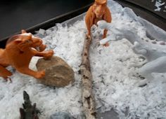 Kids Creative Chaos: How to Make DIY Fake Snow for Pretend Sensory Play in Ice Age and Christmas Villages