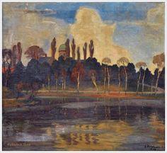 Einar Mogens Wegener (Danish, 1882-1931) «South European parkland»