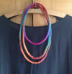 "Filzketten - Filzkette ""Farbmagie"" - ein Designerstück von Rita-Hella bei DaWanda"