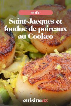 Saint-Jacques et fondue de poireaux au Cookéo 🍽🎄 Coquille Saint Jacques, Baked Potato, French Toast, Potatoes, Chicken, Baking, Breakfast, Ethnic Recipes, Simple