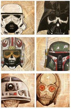 Dead Star Wars Print Set of Three (3) by Jeff Hulligan