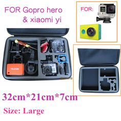NO FREIGHT FEE - freeshipping,Large Size GoPro Case 3 4.0 Bag EVA Gopro Camera Bag Case For SJ4000 Gopro Hero 3 3+ 2 HD Accessories Black Edition - thousands of products found here http://electronics.peaklifelink.com/