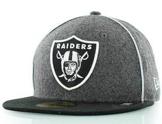 77a0de374e1 Oakland Raiders The Piping 59Fifty Fitted Cap by NEW ERA x NFL Oak Raiders
