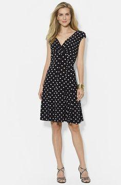 Lauren Ralph Lauren Print Matte Jersey Dress available at #Nordstrom