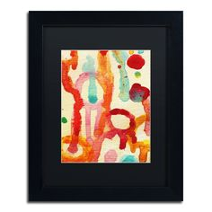 'Circle Encounters 5' by Amy Vangsgard Framed Painting Print