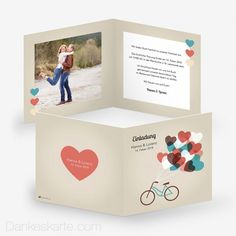 Hochzeitseinladung Herzensangelegenheit 14.5 x 14.5 cm - Dankeskarte.com Wedding Inspiration, Container, Frame, Thanks Card, Invitations, Cards, Picture Frame, Frames