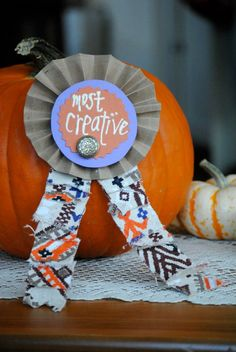 Crafternoon Delight's Pumpkin Carving Contest Prize Ribbons