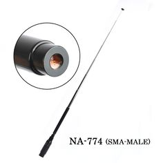 NA-774 SMA-Male Handheld Foldable Telescopic Antenna For Two Way Radio BaoFeng BF-UV3R TH-UV3R TH-UVF9