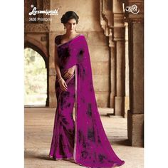 Purple floral printed sari Purple georgette printed Comes with matching unstitched blouse material Laxmipati Sarees, Georgette Sarees, Indian Sarees, Indian Dresses, Indian Outfits, Suits For Women, Clothes For Women, Indian Clothes Online, Latest Sarees
