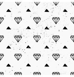 Hand drawn diamonds abstract seamless pattern vector  by dolcevita on VectorStock®