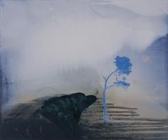 Elizabeth Magill - Site with Blue Tree, 1998, oil on canvas