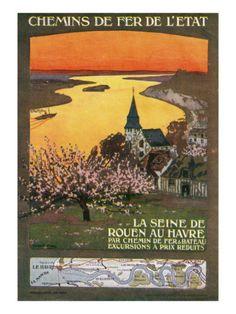 La Seine De Rouen Au Havre, 1920