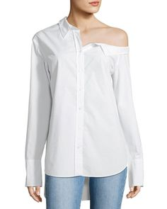 Get free shipping on A.L.C. Wesley Off-One-Shoulder Cotton Top at Neiman Marcus. Shop the latest luxury fashions from top designers.
