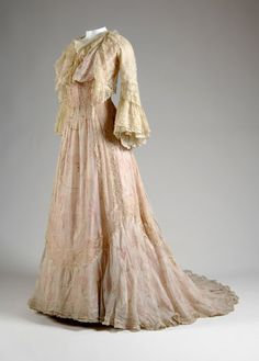 Worth Tea Gown      c.1900 From the Chicago History Museum