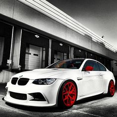 BMW 3 series - white with red trimmings #CarFlash Bmw M3, E60 Bmw, G Wagon, Ford Mustang, Maserati, Dream Cars, Car Flash, Bmw M Series, Mercedes Benz G