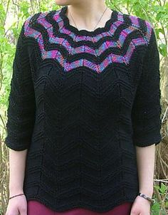Falling Stars Top Down Sweater by Elaine Phillips - free