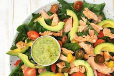 This salmon salad is bursting with flavour and goodness. It comes together in 30 minutes and is gluten, nut, dairy and sugar free. Easy Salmon Recipes, Easy Recipes, Easy Meals, Dinner Suggestions, Dill Sauce, Salmon Dishes, Create A Recipe, Salmon Salad, Fresh Chives