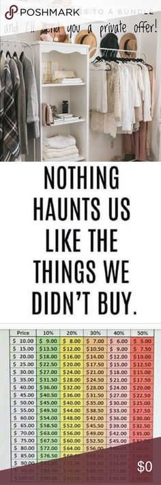 🛍BIG DISCOUNTS!!🛍 Simply add your favorite items from my closet to a bundle and I'll send you a personal, no obligation discount on those items! Feel free to make an offer on any item in my closet, but keep in mind the Poshmark fees 😁 I do not entertain low ball offers! Tops