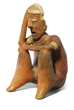 Nayarit, Mexico, Proto-Classic, 100 BC - 250 AD SEATED FIGURE terracotta height: 40.7cm