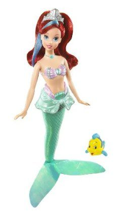 Disney Princess Royal Bath Beauty Ariel Doll by Mattel. $24.88. Collect all your favorite fairytale Disney Princess Bath Beauty Dolls. Each princess doll wears a colorful shimmer skirt. Fun for bath and beyond. Color changing hair and bodice! Just add cold water. Includes a cute squirty character friend. From the Manufacturer                Disney Princess Bath Beauty Dolls: A splash of cold water adds color to the hair and bodice of these favorite fairytale princess dolls-fu...