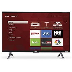 This TCL HDR Roku TV has a refresh rate for smooth display of richly detailed scenes. resolution with HDR Smart TV, Built-in Roku smart platform Clear Motion Index TCL Tv Store, Tv Tuner, Cable Box, Thing 1, Hd Led, Kevin Spacey, Dolby Digital, Home Tv, Tecnologia