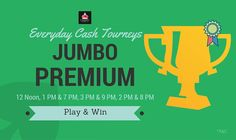 Here is another chance to win. Play & Win real cash with our jumbo premium tourney every day. Multi Table & Multi Rummy Tournaments.  ‪#‎rummy‬ ‪#‎rummygame‬ ‪#‎onlinegames‬ ‪#‎tourneys‬ ‪#‎game‬