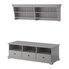 IKEA - LIATORP, Tv-møbel, kombinasjon, grå,