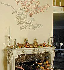cherry-branch-stencil