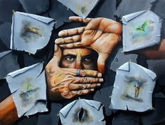 """The Scenes"" Oil on canvas 150x200cm Avihai cohen Art אביחי כהן"