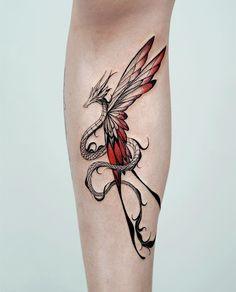 Dope Tattoos, Mini Tattoos, Red Ink Tattoos, Pretty Tattoos, Body Art Tattoos, Small Tattoos, Sleeve Tattoos, Dragon Tattoo For Women, Dragon Tattoo Designs