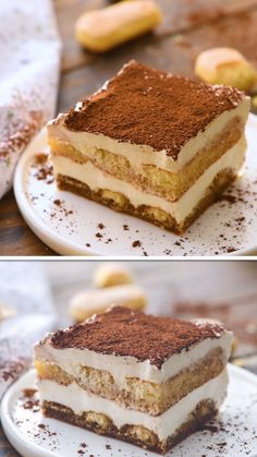 Mix up your holiday dessert with this easy Tiramisu recipe! It's perfect because it needs to be made ahead of time. Less stress when hosting a holiday. Espresso dipped ladyfingers and layers of Mascar Tiramisu Dessert, Bolo Tiramisu, Easy Tiramisu Recipe, Tiramisu Cookies, Chocolate Tiramisu, Chocolate Cake, Ina Garten Tiramisu Recipe, Dairy Free Tiramisu, Tiramisu Recipe Without Eggs