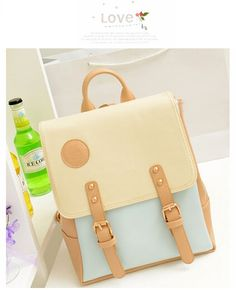 New Women s Retro College Sweet Shoulder Bag Synthetic Leather  Backpack Shoulder Bag Bags Women s Fashion Zone   Best Price Clothes 04cd14501db26