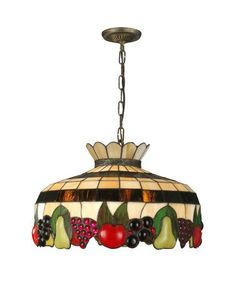 Dale Tiffany 3092 1LTA Fruitful 20 Inch Large Pendant Dining Room Ceiling Lights Joss