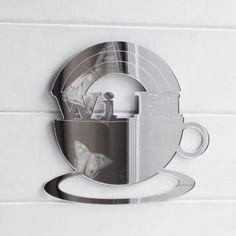WIFI & Coffee Cup Acrylic Mirror Sign - Suave Petal Coffee Cups, Coffee Maker, Acrylic Mirror, Home Signs, Wifi, Kitchen Appliances, Coffee Maker Machine, Diy Kitchen Appliances, Coffee Mugs