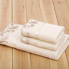 julgåva microfiber spets badhandduk och handduk, set om 3 – DKK kr. 140