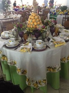 O visual completo da linda mesa siciliana de Valéria Nogueira e Simone Chaves!