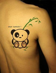Cute! (Panda Tattoo by Longiee, via Flickr)