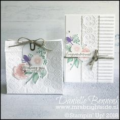 Stamping Sunday Bloghop: Embossing Folders - Mrs. Brightside - Danielle Bennenk Corrugated, Tin Tile embossing folder and first frost stamp set by Stampin' Up!