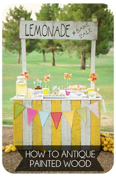 Going for a vintage look? Great tutorial on how to antique painted wood on { lilluna.com }