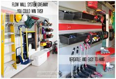 I love the Flow Wall system! I can see using it in my craft room FIRST! ....before we do the garage/workshop area!