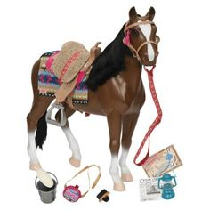 Our Generation Thoroughbred Horse  Hey Moms and Dads- Christmas is coming so I checked to see if Target still sells these- So much cheaper than American Girl stuff and the accessories are so much fun