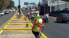 Más allá de la ruta del Papa, el Ayuntamiento de Morelia trabaja en acciones e balizamiento y mantenimiento de áreas verdes; el alcalde Alfonso Martínez reconoció el trabajo del personal ...
