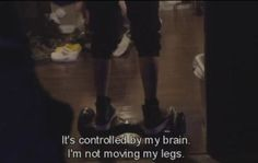 Kai trying to trick everyone into thinking the hover board is controlled by his brain. But the most important thing here is Uruha's crocs in the top left corner.